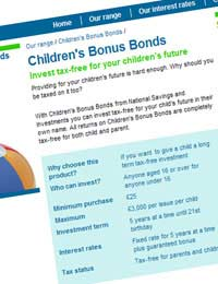 Childrens Children's Bonus Bond National